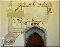 TR1439 : St Mary & St Radegund, Postling, Kent - Wall painting by John Salmon