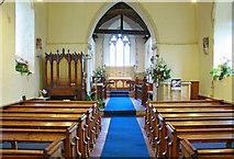 TR1439 : St Mary & St Radegund, Postling, Kent - East end by John Salmon