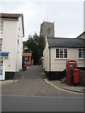 TM2863 : Looking from Market Hill into Church Lane by Basher Eyre