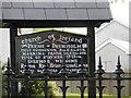 G9270 : Notice board, Ballintra Church of Ireland by Kenneth  Allen