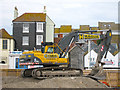 TQ8209 : Digger at Jerwood Gallery site by Oast House Archive
