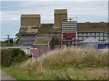 SK7667 : Farm buildings near Weston by Andrew Hill
