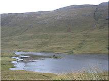 NM6330 : Crannog in Loch Sguabain by Sarah Charlesworth