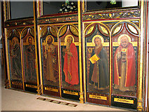 TG2608 : St Andrew's church in Thorpe St Andrew - C20 screen (panels) by Evelyn Simak