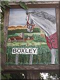 TQ7758 : Close-up of Boxley Village Sign by David Anstiss