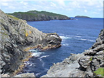 HU3793 : Rocky Inlet, North Roe by Colin Smith