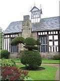 SD4615 : Squirrel topiary in the gardens of Rufford Old Hall by Sarah Charlesworth