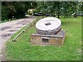 TG1508 : Millstone from Bawburgh Mill sited opposite the King's Head Hotel by Elliott Simpson