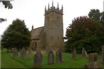 SP1729 : St James's churchyard, Longborough on a grissly September day by Roger Davies