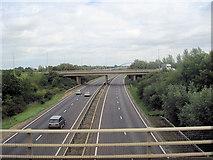 TL4662 : A14 from A1309 bridge by John Firth