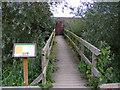 TG3304 : Bridge to the Bird Observation Hide at Rockland Broad by Glen Denny