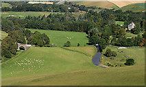 NT4448 : Farmland by the Gala Water near Burnhouse by Walter Baxter