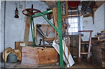 TF7632 : Great Bircham Windmill - Stone Crane by Ashley Dace