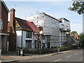 TQ7843 : Scaffolding on High Street Buildings by Oast House Archive