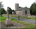 TG1807 : St Andrew's church and war memorial, Colney by Evelyn Simak