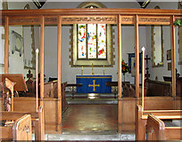 TG1807 : St Andrew's church in Colney - C20 chancel screen by Evelyn Simak