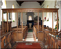 TG1807 : St Andrew's church in Colney - view west by Evelyn Simak