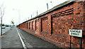 J3475 : Harbour wall, Belfast by Albert Bridge