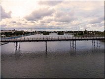 SD3317 : Southport Pier and Marine Lake by David Dixon