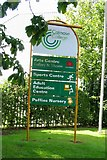 SK8508 : Catmose College sign by Andrew Tatlow