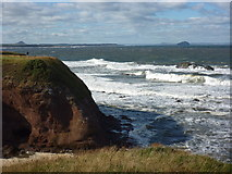 NT6779 : East Lothian Coastline : Snapping the Surf at Dunbar Clifftop by Richard West