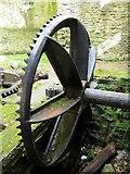 NZ2567 : Gear wheel, The Old Mill, Jesmond Dene by Andrew Curtis