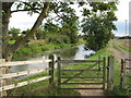 TR0032 : Bridle gate beside Royal Military Canal by David Anstiss