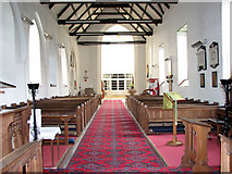TM5286 : St Edmund's church in Kessingland - view west by Evelyn Simak