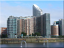 TQ3880 : Riverside Apartments, Blackwall by Colin Smith