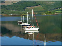 NN0958 : Boats on Loch Leven by Dave Fergusson