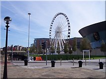 SJ3489 : Ferris wheel next to the Echo Arena by Raymond Knapman