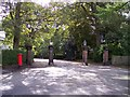 SJ3985 : Grassendale entrance gateway by Raymond Knapman