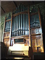 NY9166 : St. Michael's Church, Warden - organ, south transept by Mike Quinn