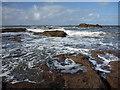NT6679 : Coastal East Lothian : Looking Towards Long Craigs, near Dunbar by Richard West