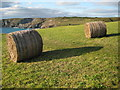 SW6912 : Hay bales near The Lizards by Philip Halling