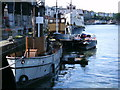 ST5872 : Ships at Princes Wharf by Thomas Nugent