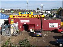 TL4658 : Bargain tiles just off Coldham's Lane by Michael Trolove