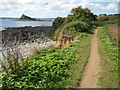 SW5330 : Coast path near Marazion by Philip Halling