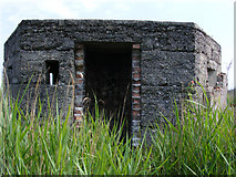TM4599 : World War 2 pillbox beside the Norwich-Lowestoft railway by Glen Denny