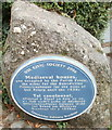 SO3700 : Blue plaque, medieval houses, Four Ash Street, Usk by Jaggery