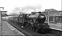 TQ2182 : Willesden Junction Station (Main Line), with Up Football Special by Ben Brooksbank