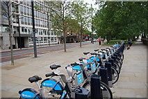 TQ3078 : Bikes for Hire, Albert Embankment by N Chadwick