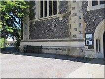 SU7682 : Bench mark near the door by Bill Nicholls