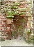 NY0265 : Fireplace in Caerlaverock Castle by Humphrey Bolton