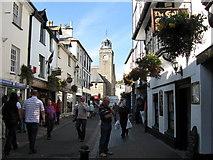 SX2553 : Looking North up Fore Street,  East Looe, Cornwall. by Derek Voller
