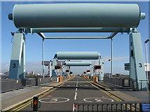 ST1972 : Cardiff Bay Barrage bascule bridges by M J Richardson