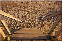 TG2142 : Steps to Cromer Beach, Norfolk by Christine Matthews
