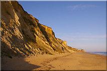 TG2142 : Cromer Cliffs and Beach, Norfolk by Christine Matthews