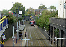 SO9596 : Bilston Central Tramstop, Wolverhampton by Roger  Kidd
