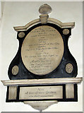 TG2209 : The church of St Augustine, Norwich - C18 memorial by Evelyn Simak
